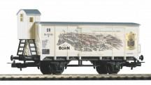 Piko 54447 DR Born Senf gedeckter Güterwagen Ep.3