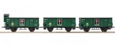 Piko 58348 SNCB gedeckte Güterwagen-Set 3-tlg Ep.3