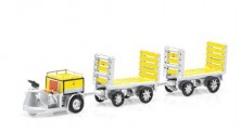SwissLine 85.008704 Schlepper 3-Rad mit 2 Trolleys PTT