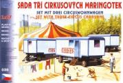 SDV model 039 Wohnwagen-Set 3-tlg Zirkus