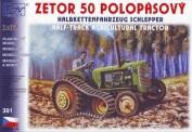 SDV model 391 Traktor Zetor 50 Raupenantrieb