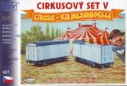 SDV model 437 Zirkus Anhänger-Set 2-tlg