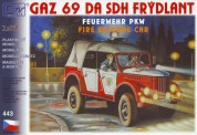 SDV model 443 GAZ 69A ELW Feuerwehr
