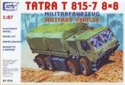 SDV model 87070 Tatra 815-7 8x8 Pritsche/Pl. Militär
