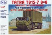 SDV model 87074 Tatra 815-7 8x8 Container-Lkw Militär
