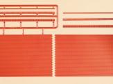 Auhagen 41205 Ziegelmauern mit Zahnfriesvarianten rot