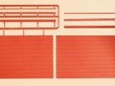 Auhagen 44630 Ziegelmauern mit Zahnfriesvarianten. N