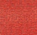 Auhagen 50104 Dekorpappe Ziegelmauer rot