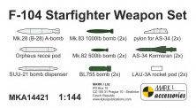 Mark 1 MKA14421 F-104 Weapon Set (resin parts)