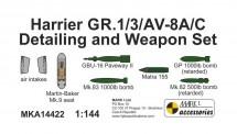Mark 1 MKA14422 Harrier GR1/3 AV8A/C Detail and Weapon