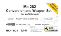 Mark 1 MKA14423 Me 262A Conv. & Weapon Set
