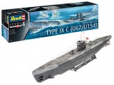 Revell 05166 German Submarine Type IX C U67/U154