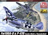 Academy 12513 P-47D & FW190A-8 Annv. 70 Normandy