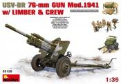 MiniArt 35129 USV-BR 76mm Gun Mod.1941 w/Limber &Crew