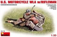 MiniArt 35179 U.S.Motorcycle WLA with Rifleman