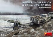 MiniArt 35272 Soviet 2T 6x4 Truck & 76mm USV-BR Gun