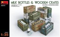 MiniArt 35573 Milchflaschen und Holzkisten