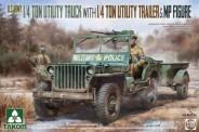 Takom 2126 1/4 Ton Utility Truck with Trailer & Fig