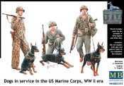 Master Box Ltd. MB35155 Dogs in the service USMC WWII