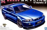 Aoshima 01102 Nissan Skyline GT-R R34 V-spec II