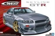 Aoshima 05542 C-WEST BNR34 Skyline GT-R '02 (Nissan)