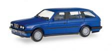 Herpa 028714 BMW 3er Touring (E30) blau
