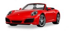 Herpa 028844 Porsche 911 Carrera Cabrio indischrot