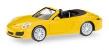 Herpa 028899 Porsche 911 Carrera 4S Cabrio racinggelb