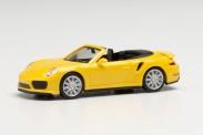 Herpa 028929-002 Porsche 911 Turbo Cabrio racinggelb