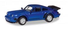 Herpa 030601-002 Porsche 911 Turbo blau-met.