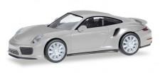 Herpa 038614-002 Porsche 911 Turbo rhodiumsilber-met.