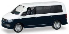 Herpa 038730-002 VW T6 Multivan Bicolor weiß/blau