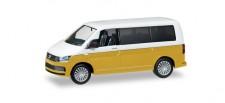 Herpa 038730 VW T6 Multivan candyweiß / kurkumagelb