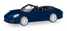 Herpa 038898 Porsche 911 Carrera 4S Cabrio nachtblau