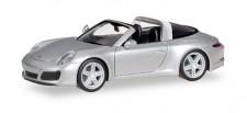 Herpa 038904 Porsche 911 Targa 4S rhodiumsilber