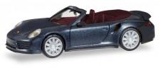 Herpa 038928 Porsche 911 Turbo Cabrio schwarz-met.