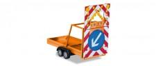 Herpa 052368-002 Anhänger Verkehrssicherung 2a orange