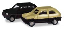 Herpa 065962-002 Fiat Panda I grünbeige/schwarz 2er Set