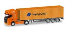Herpa 066594 Scania R TL 40ft C-SZ Hapag Lloyd