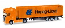 Herpa 066723 Scania R TL 40ft C-SZ Hapag Lloyd