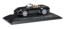 Herpa 071062 Porsche 911 Carrera 4S Cabrio schwarz