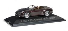 Herpa 071079 Porsche 911 Carrera 4S Cabrio mahagoni