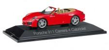 Herpa 071109 Porsche 911 Carrera 4 Cabrio indischrot