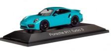 Herpa 071475 Porsche 911 Turbo S miamiblau