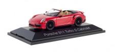Herpa 071482 Porsche 911 Turbo S Cabriolet karminrot