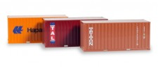 Herpa 076432-003 Set 3x20 ft. Container