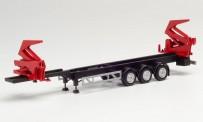 Herpa 076982 Hammar Container-Seitenlader-Auflieger