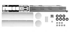 Herpa 084437 2x Tankauflieger weiß Bausatz