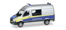 Herpa 093088 MB Sprinter Halbbus Polizei Mecklenburg