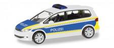 Herpa 093576 VW Touran Polizei Brandenburg